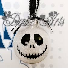 skellington ornaments for