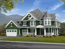 Luxury Craftsman Style Home Plans Charming Victorian With Finished Basement 23171jd