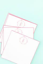 Make Your Own Envelope Diy Floral Monogrammed Notecardsmaritza Lisa