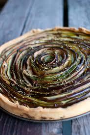 d u0026d eggplant u0026 zucchini rose tart