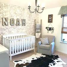 baby boy themes for rooms baby boy bedroom ideas brick accent wall in nursery with cow theme