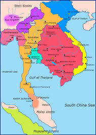 Define Political Map The Four Capitals Of Thailand Thai Language Blog