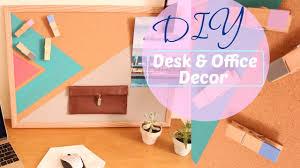 diy easy desk decor office organization youtube