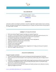 Relevant Experience Resume Examples by Over 10000 Cv And Resume Samples With Free Download Program