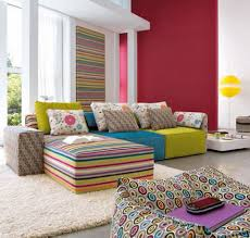 Picture Yourself In A Living Room by Funky Colorful Striped Sofa Sets In Stylish Urban Living Room