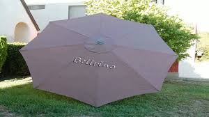 Sun Garden Easy Sun Parasol Replacement Canopy by Bellrino Replacement Umbrella Canopy For 9ft 8 Ribs Taupe Canopy