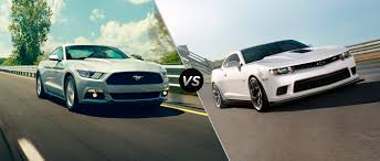 ford mustang chevy camaro ford mustang gt vs 2015 chevy camaro ss