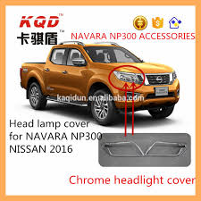 nissan frontier np300 accessories abs chrome head light cover for np300 navara accessories 2016 head