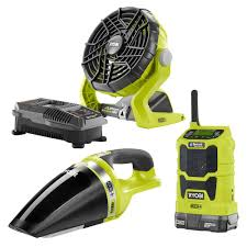 ryobi fan and battery ryobi one 18 volt radio fan vacuum battery charger kit 99