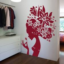racing bike wall sticker bicycle wall decor large flower girl wall sticker
