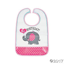 1st birthday bib elephant 1st birthday bib
