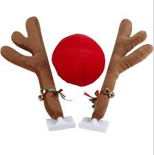 reindeer car cheap reindeer nose and antlers for car find reindeer nose and