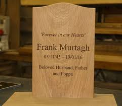 headstone maker online sign maker wooden tablet wooden lawn memorial