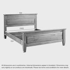 Super King Size Bed Dimensions Classic Super King Size Bed In Solid Oak Oak Furniture Land