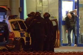 sushi shop siege dramatic moment armed arrest with shotgun after 3