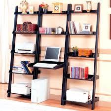Leaning Bookshelf With Desk Bookcase Inspiring Leaning Shelf Ikea Walmart Bookshelves Black