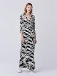 dvf wrap dress abigail maxi silk jersey wrap dress by dvf