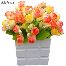 plastic flowers aliexpress buy green artificial plants floral plastic