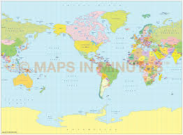 Alaska World Map by Vector World Map Miller Projection Political Map Small Scale Us