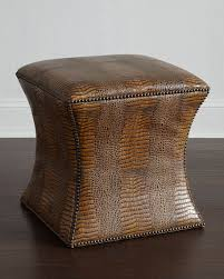 Bernhardt Ottoman Bernhardt Cara Leather Ottoman