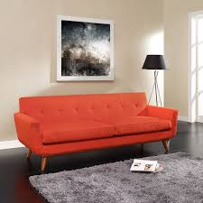 Red Sofa Furniture Modway Engage Upholstered Sofa Hayneedle
