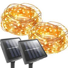 Orange Solar String Lights by Product Center