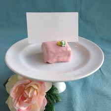 pink petit four place card holders spring wedding decoration