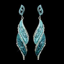 turquoise bridal earrings turquoise prom and wedding earrings