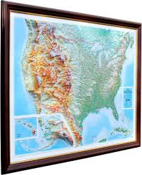 3d Map Of The World by 3d Raised Relief Map Of Usa 185 00 Cosmographics Ltd