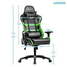 reclining gaming desk chair modern luxe racing gaming office chair executive high back reclining
