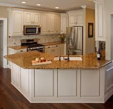 White Kitchen Brown Cabinets With Granite Countertops - Granite on white kitchen cabinets