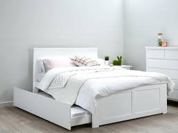 double trundle bed bedroom furniture decoration modern trundle beds kids white double size bed frame