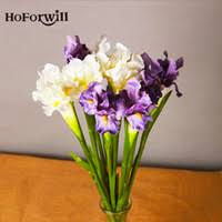 Fake Flowers For Home Decor Wholesale Artificial Iris Flowers Buy Cheap Artificial Iris