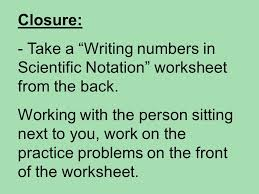 working with scientific notation aim how is scientific notation used ppt