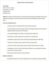 Free Teacher Resume Templates Free Teacher Resume 40 Free Word Pdf Documents Download Free