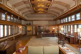 frank lloyd wright home interiors living room from the francis w house windows and paneling