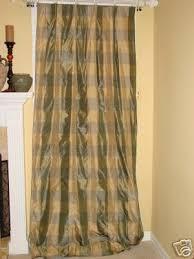 Drape Hooks 4 Slate Buffalo Check Silk Drapes Panels Curtains