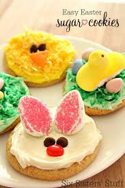 easter stuff easy easter sugar cookies 3 different ways six stuff