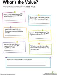 place value what u0027s the value worksheet education com