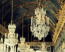 versailles chandelier fresco and chandelier in hall of mirrors at versailles the paris