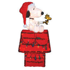 Christmas Outdoor Decorations Peanuts by Peanuts By Schulz Snoopy And Woodstock On Doghouse Outdoor Decoration