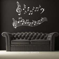 music note home decor wonderful music notes wall art stickers wall decal diy home