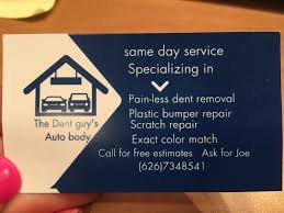 Plastic Business Cards Los Angeles Ripoff Report The Dent Guy U0027s Auto Body Complaint Review Los