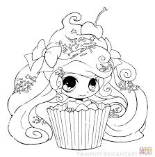 chibi chibi cupcake coloring page free printable coloring pages
