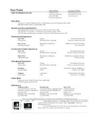 musical theatre resume template musical theatre resume template free musical theatre resume
