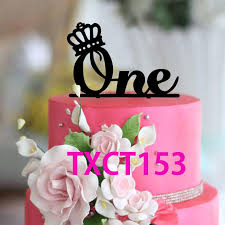 one cake topper 2018 wholesale cake toppers wedding anniversary cake topper one