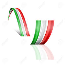 Mwxican Flag Abstract Vector Wave Italian And Mexican Flag Royalty Free
