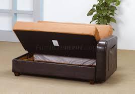 Sectional Sleeper Sofa Tone Tan U0026 Rich Brown Contemporary Sectional Sleeper Sofa