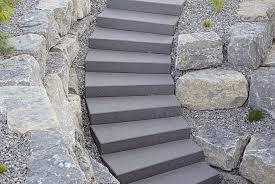 treppe auãÿen betonstein stufen blockstufen und stufenplatten