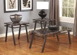 ashley furniture glass coffee table set coffee tables